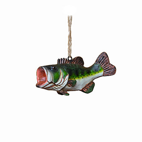 Red Shed Bass Ornament