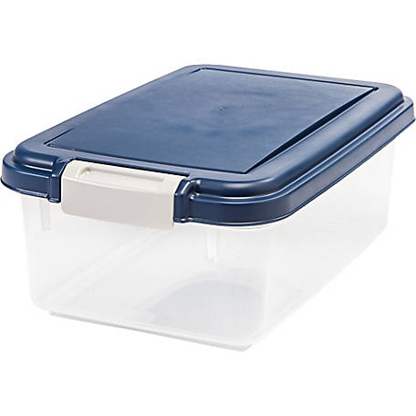 IRIS USA 301071 Airtight Pet Food Storage Container, 12 qt., Navy