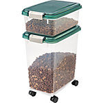 IRIS USA Airtight Pet Food/Treat Storage Container Combo