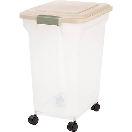 IRIS USA 300666 Airtight Pet Food Storage Container, 55 qt., Smoke