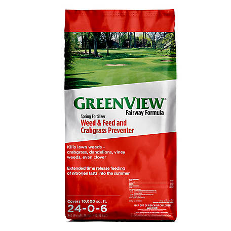GreenView Fairway Formula Spring Fertilizer Weed & Feed + Crabgrass Preventer - 36 lb., 2129193