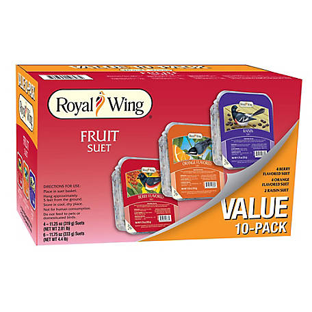Royal Wing Variety Fruit Suet, 10 pack