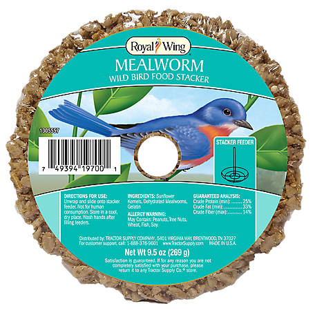 Royal Wing Mealworm Wild Bird Food Stacker