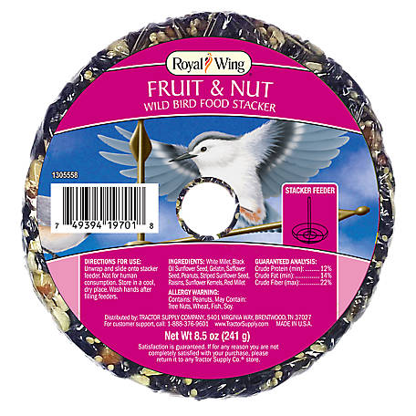 Royal Wing Fruit & Nut Wild Bird Food Stacker