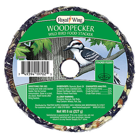Royal Wing Woodpecker Wild Bird Food Stacker