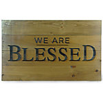 Red Shed Laser Cut Sign, 'We Are Blessed'