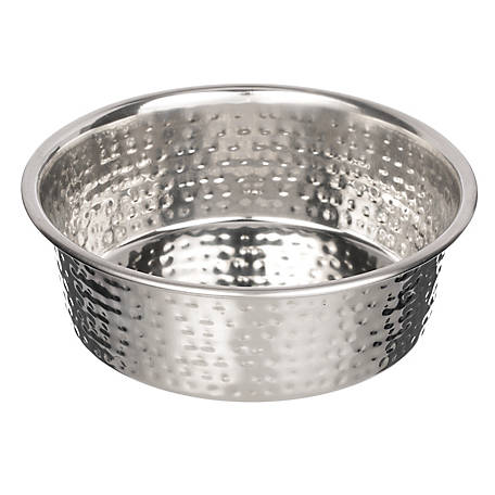 Neater Pet Brands Medium Hammered Stainless Steel Bowl