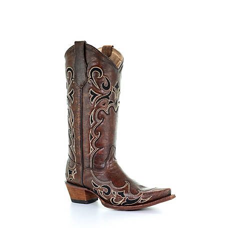 Corral Women's Embroidered Sides Snip Toe Boot, L5247