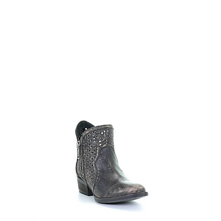 Corral Women's Distressed Cutout  with Zipper Boot, Q0001