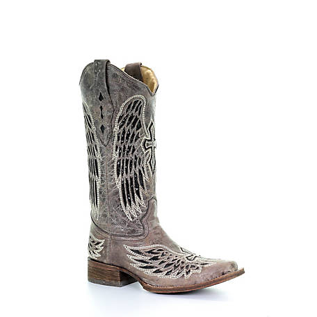 Corral Women's Wing Cross-Stitch Square Toe Boot, A1197