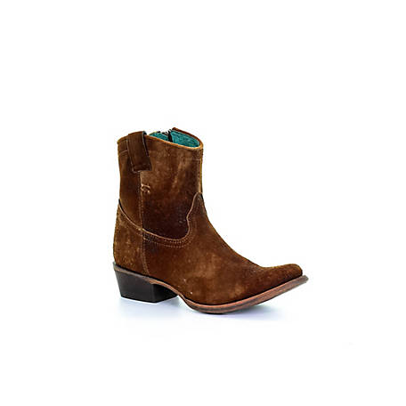 Corral Women's Abstract Chocolate/Lamb Ankel Round Toe Boot, C1064