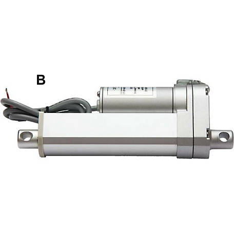 Concentric 12V DC Linear Actuator, 5.91 in. Stroke, 10.04 in. Retract, 15.95 in. Extended, Acme Drive
