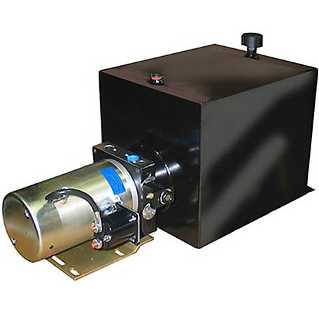 SPX Hydraulic Power Unit (12V DC, Single Acting), 1.3 GPM, 3/8 in. NPT Ports, 2500 PSI, 22 qt. Steel Tank