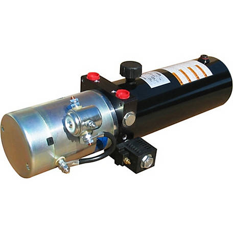 SPX Hydraulic Power Unit (12V DC, Double Acting), 1.4 GPM, SAE 6 Ports, 2000 PSI, 3 qt. Steel Tank