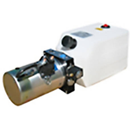 SPX Hydraulic Power Unit (12V DC, Single Acting), 1.4 GPM, 3/8 in. NPT Ports, 2000 PSI, 6 qt. Poly Tank