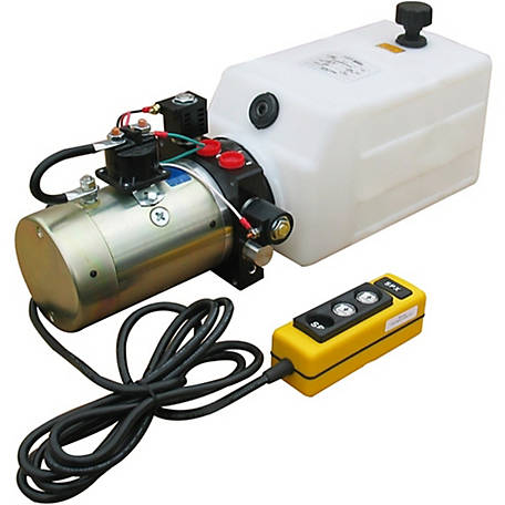 SPX Hydraulic Power Unit (12V DC, Double Acting), 1.5 GPM, SAE 6 Ports, 2000 PSI, 8 qt. Poly Tank