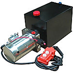 Maxim Hydraulic Power Unit (12V DC, Single Acting), 8 GPM, SAE 6 Ports, 2500 PSI, 12 qt. Steel Tank