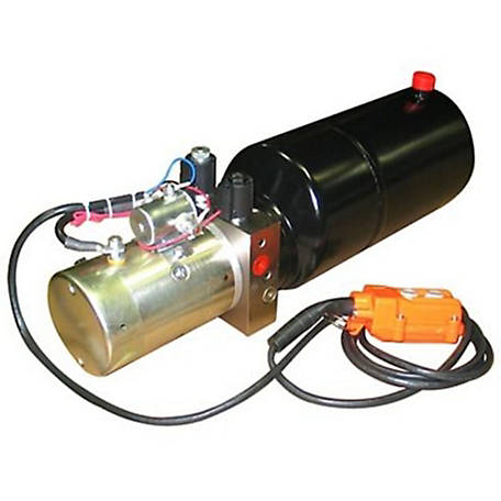 Maxim Hydraulic Power Unit (12V DC, Double Acting), 1.3 GPM, SAE 6 Ports, 2500 PSI, 8 qt. Steel Tank