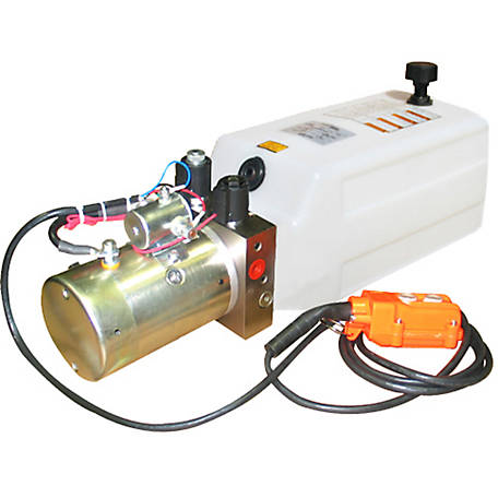 Maxim Hydraulic Power Unit (12V DC, Double Acting), 1.3 GPM, SAE 6 Ports, 2500 PSI, 1 Gallon Poly