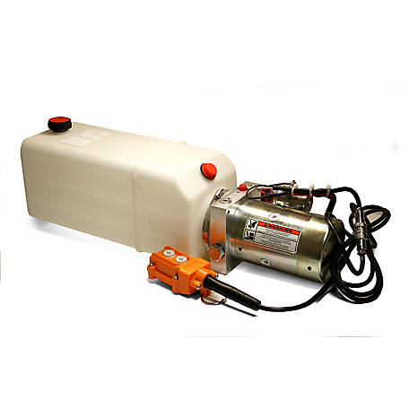 Maxim Hydraulic Power Unit (12V DC, Single Acting), 1.3 GPM, SAE 6 Ports, 2500 PSI, 1 Gallon Tank
