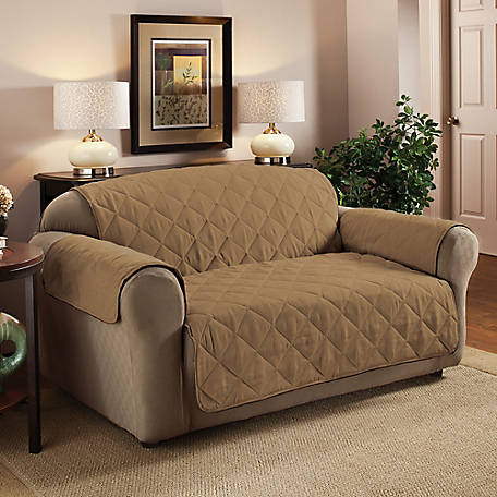 Innovative Textile Solutions Faux Suede Loveseat Furniture Protector Slipcover