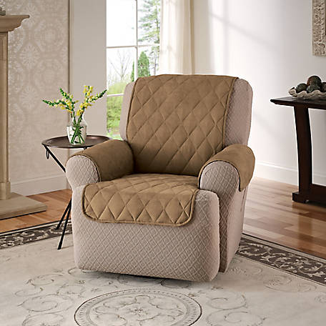 Innovative Textile Solutions Faux Suede Recliner/Wing Chair Furniture Protector Slipcover