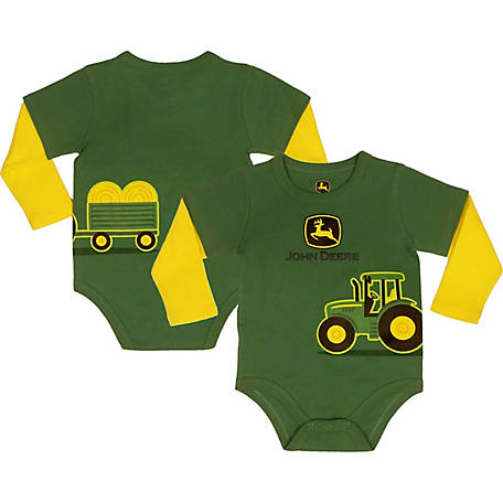 John Deere Boy S Long Sleeve Infant Tractor Body Shirt At Tractor
