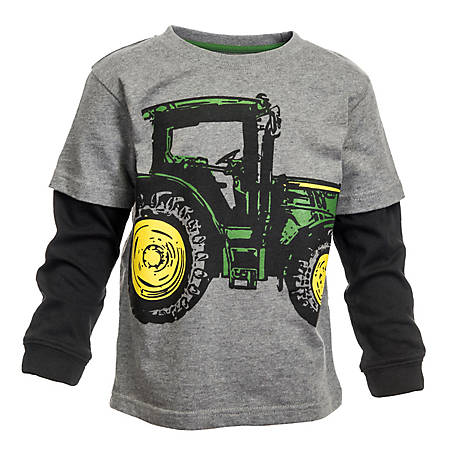 John Deere Boy S Long Sleeve Toddler Big Tractor Shirt At Tractor