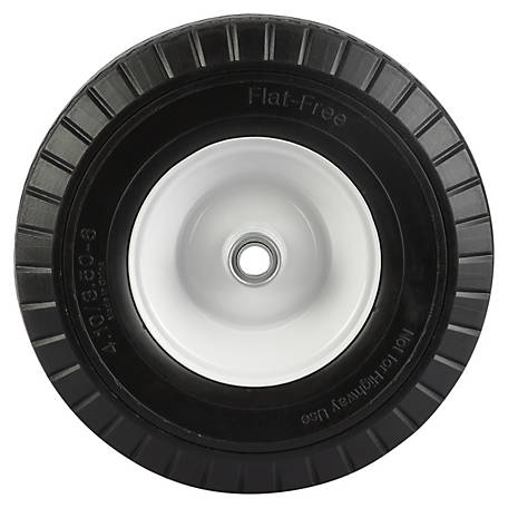 4.10/3.50-6 in. Flat-Free Wheels with Sawtooth Tread, 3/4 in. Bore Size