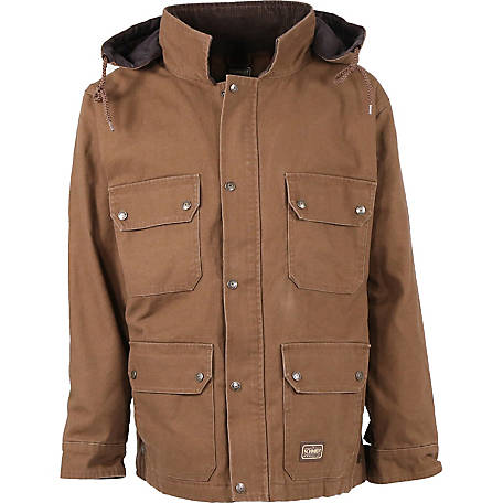 C.E. Schmidt Men's Fleece-Lined Sanded/Washed Duck Contractor Coat