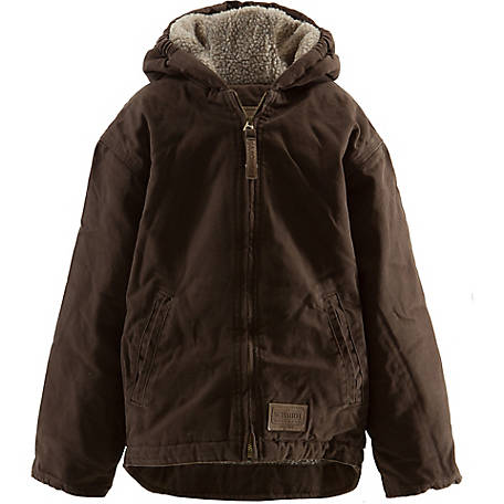 b36611bc73a C.E. Schmidt Girl s Sherpa-Lined Sanded Duck Hooded Jacket at ...