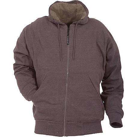 Ce Schmidt Mens Sherpa Lined Zip Front Hooded Fleece Sweatshirt
