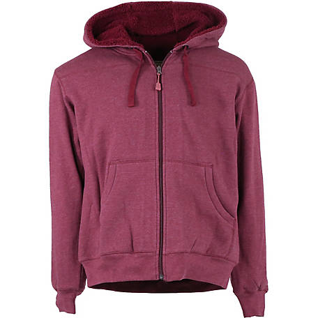 C.E. Schmidt Women s Sherpa-Lined Zip-Front Hooded Fleece Sweatshirt edfed1d06e