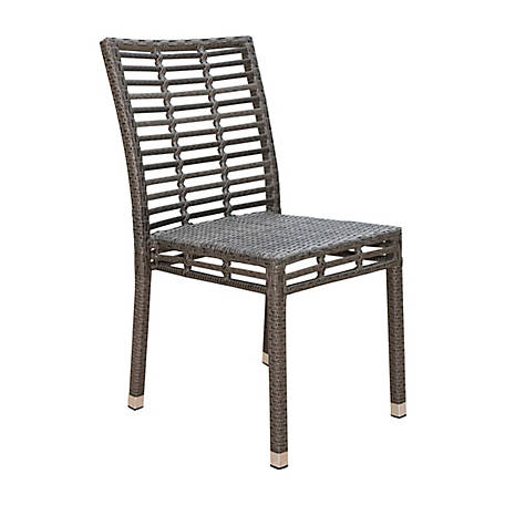 Panama Jack Graphite Stackable Side Chair