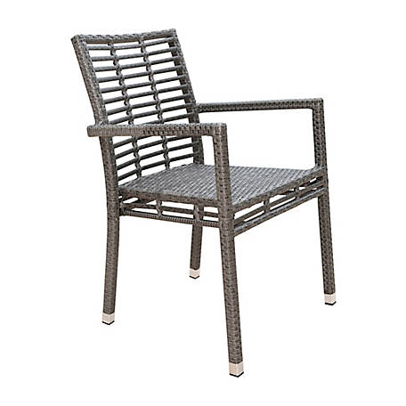 Panama Jack Graphite Stackable Arm Chair