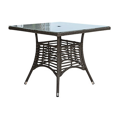 Panama Jack Graphite Square Dining Table