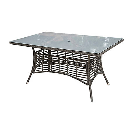 Panama Jack Graphite Rectangular Table