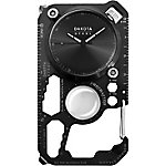 Dakota Square Multi Tool Clip Watch, Black