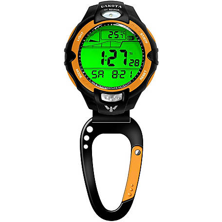 Dakota Temp Sensor Clip Watch, Orange