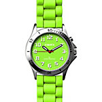 Dakota Easy Clean Light Up Silicone Watch, Lime