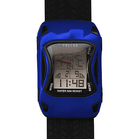 Fusion Kid's Digital Racecar Watch, Blue