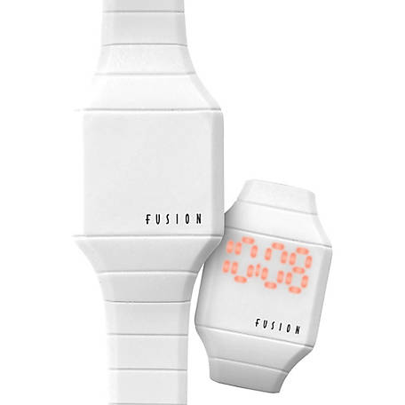 Fusion Kid's Mini Hidden LED Watch, White