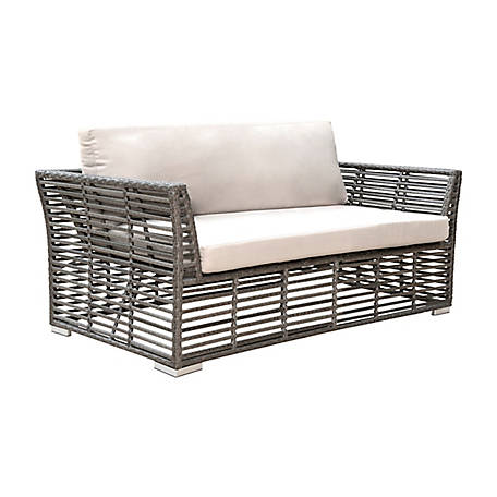 Panama Jack Graphite Loveseat with Cushions