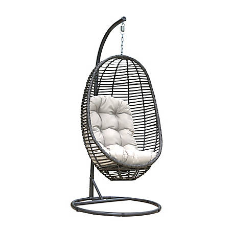Panama Jack Graphite 2-Piece Hanging Chair with Cushion