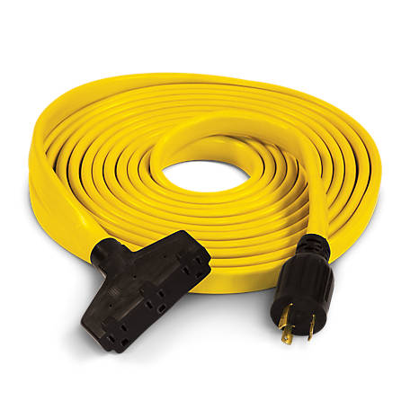 Champion Power Equipment 25 ft. 30-Amp 125V Fan-Style Flat Generator Extension Cord (L5-30P to three 5-20R)