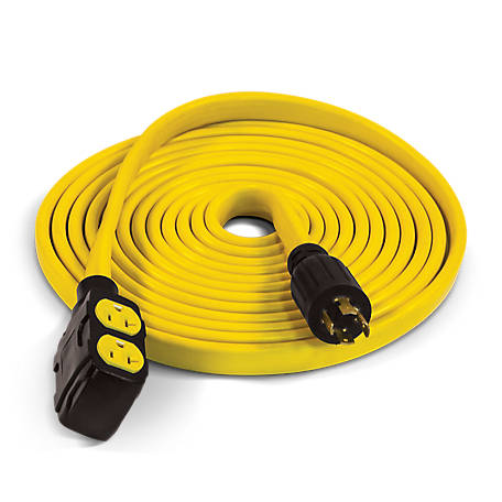 Champion Power Equipment 25 ft. 30-Amp 125/250V Duplex-Style Flat Generator Extension Cord (L14-30P to four 5-20R)