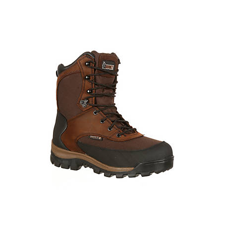 Rocky Men's 8 in. Dark Brown Core Waterproof Insulated Lace-Up Boot