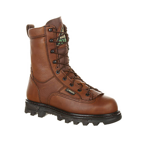 Rocky Men's 9 in. Brown BearClaw 3D Waterproof Insulated Lace-Up Boot
