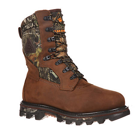 Rocky Men's 10 in. Mossy Oak Break-Up BearClaw 3D Waterproof Insulated Lace-Up Boot