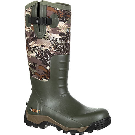 Rocky Men's 16 in. Venator Camo Sport Pro Waterproof Rubber Boot